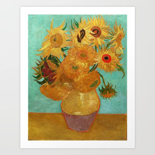 Twelve Sunflowers by Vincent Van Gogh