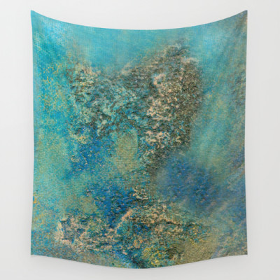 Philip Bowman Blue Ocean Wall Tapestry