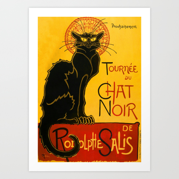 The Black Cat by Theophile Steinlen