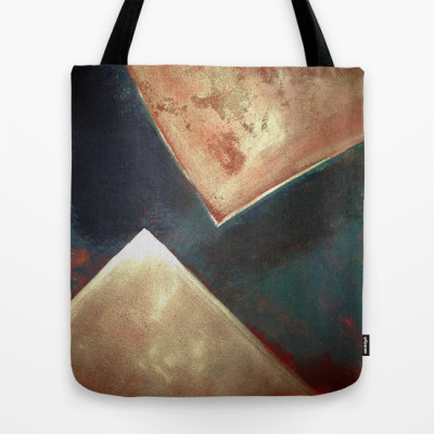 Philip Bowman Golden Triangles Modern Abstract Art Painting Tote Bag
