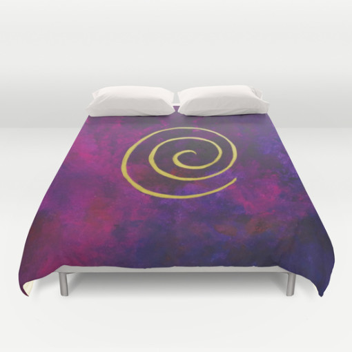 Philip Bowman Infinity Deep Purple Duvet Cover