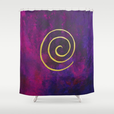 Philip Bowman Infinity Deep Purple  Shower Curtain