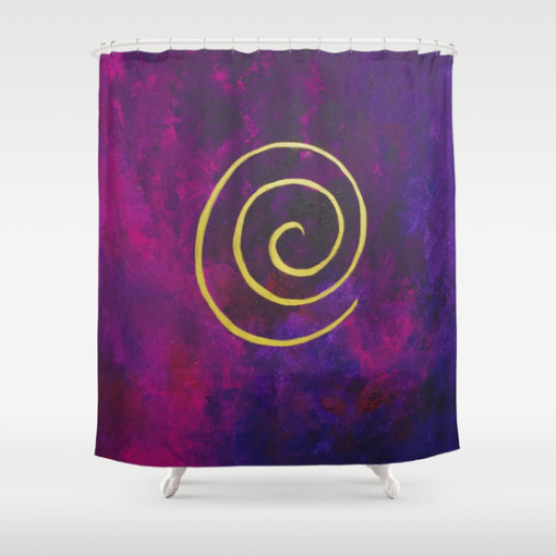 Philip Bowman Infinity Deep Purple  Shower Curtain