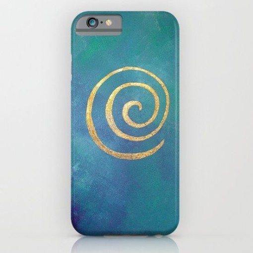 bright blue phone case