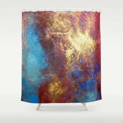 philip bowman artistic shower curtain